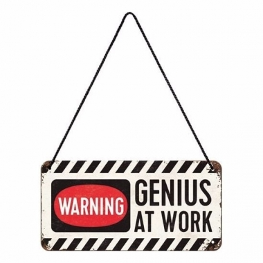 Wit genius at work ophangbordje