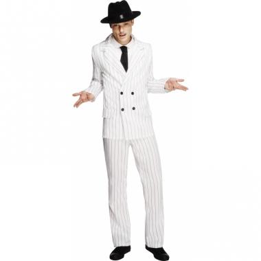 Wit heren kostuum gangster