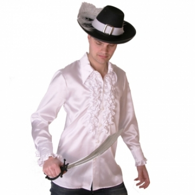 Wit heren piraten overhemd