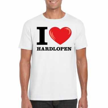 Wit i love hardlopen t-shirt heren