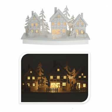 Wit kerstdorp met licht type 3