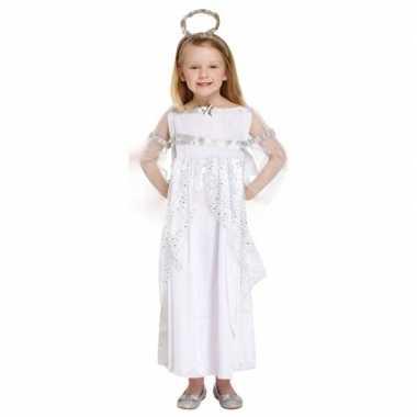 Wit kerstengel kostuum voor meisjes