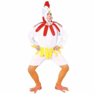 Wit kippen/hanen verkleed pak voor volwassenen