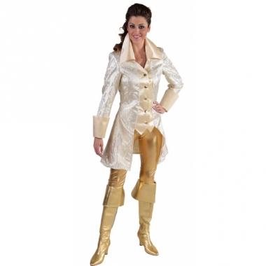 Wit met gouden piraten jas dames