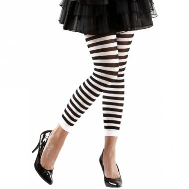 Wit met zwarte dames legging
