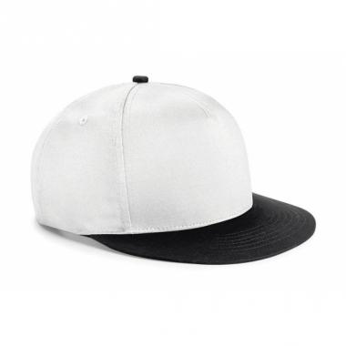 Wit met zwarte kinder snapback cap