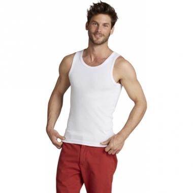Wit mouwloos shirt voor heren