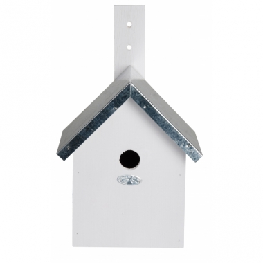 Wit nestkastje voor kleine tuinvogels 19x18x31 cm