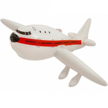Wit opblaas vliegtuig 50 cm