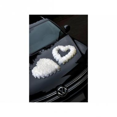 Wit open rozenhart voor op de auto