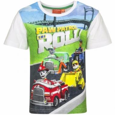 Wit paw patrol shirt voor jongens