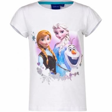Wit shirt elsa en anna voor meisjes