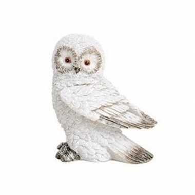 Wit sneeuwuil vogel dieren beeldje 13 cm