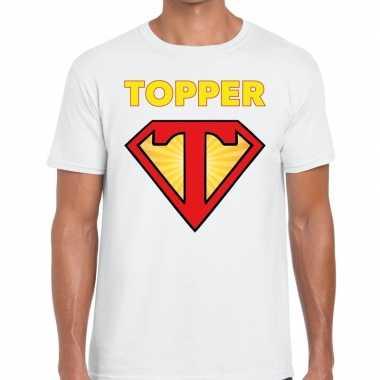 Wit t- shirt super topper heren
