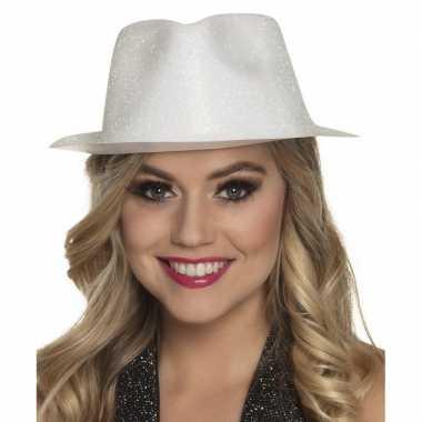 Wit timberlake hoedje met glitters voor dames