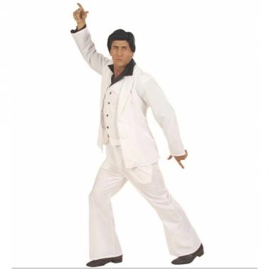 Wit travolta kostuum voor heren