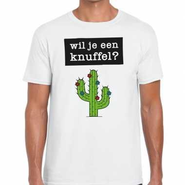 Wit wil je een knuffel fun t-shirt voor heren