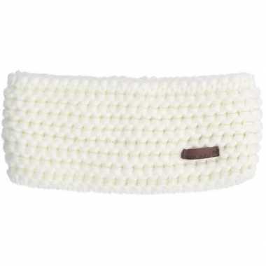 Witte acryl ski hoofdband voor dames