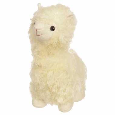 Witte alpaca/lama deurstopper/deurwig 30cm