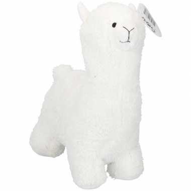 Witte alpaca/lama deurstopper/deurwig 35 cm