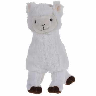 Witte alpaca/lama knuffeldier 30 cm