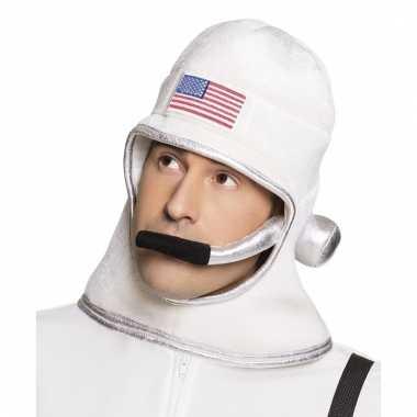 Witte astronautenhelm van stof
