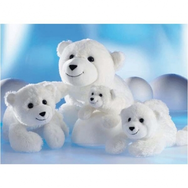 Witte beer knuffel knut 48 cm