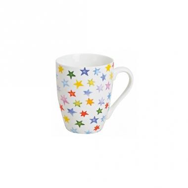 Witte beker met gekleurde sterren