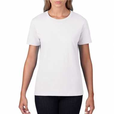 Witte dames casual t-shirts met ronde hals
