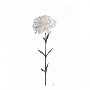 Witte dianthus kunstbloem 65 cm