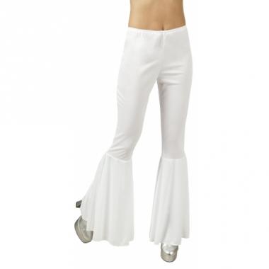 Witte disco broek voor dames