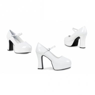 Witte disco schoenen