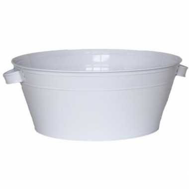 Witte drankkoeler/ijsemmer 16 x 40 cm
