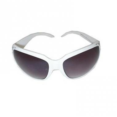 Witte glitter zonnebril