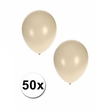 Witte grote ballonnen 50 stuks
