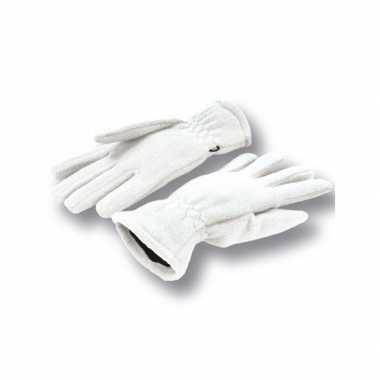 Witte handschoenen fleece voor dames/heren