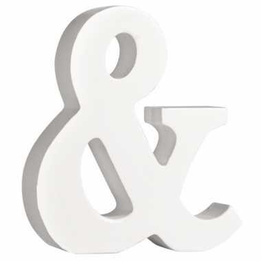 Witte houten & 11 cm