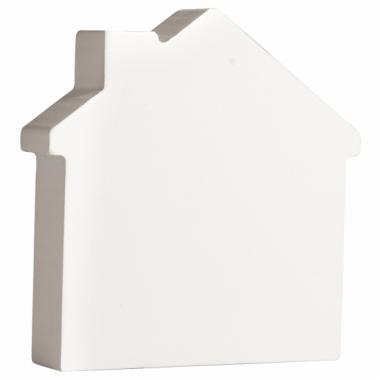 Witte houten huisje 11 cm
