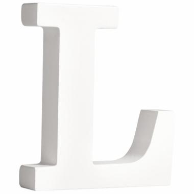 Witte houten letter l 11 cm