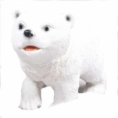 Witte ijsbeer beelden 19 cm