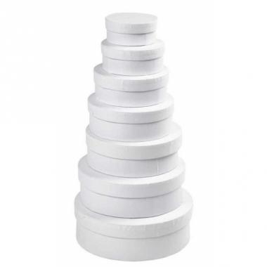 Witte kado verpakking 8,5 cm