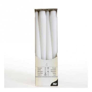 Witte kandelaarkaarsen 25 cm