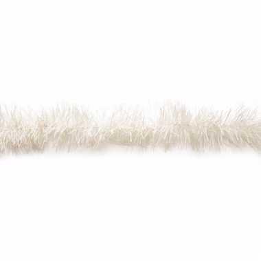 Witte kerstboomslinger van folie 200 cm