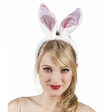 Witte konijnen oren diadeem