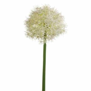 Witte kunst allium/sierui kunstbloemen 65 cm decoratie