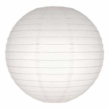 Witte lampion rond 25 cm
