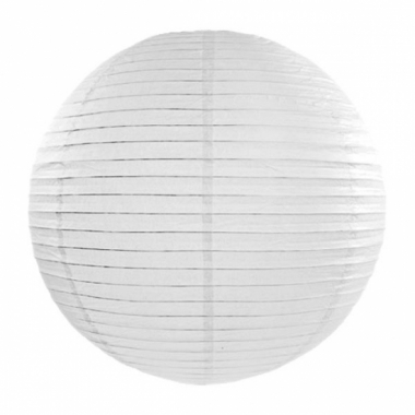 Witte lampion rond 35 cm