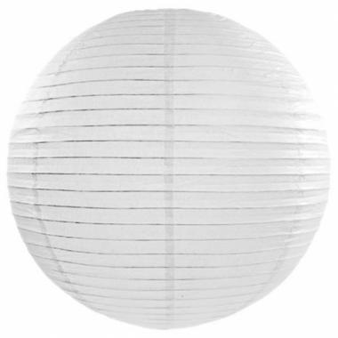 Witte lampion rond 50 cm
