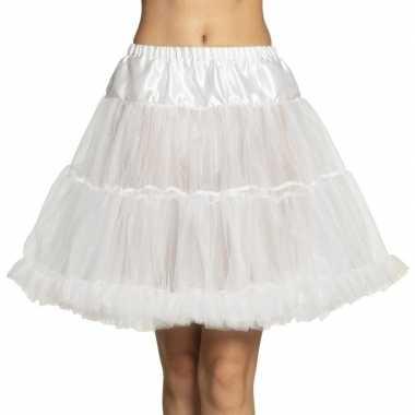 Witte lange petticoat voor dames