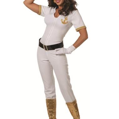 Witte marine jumpsuit voor dames